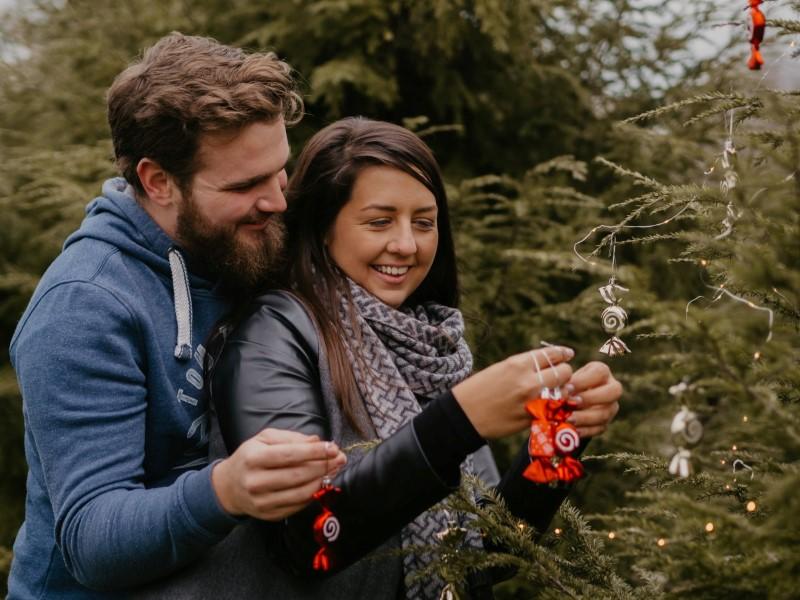 Ana in Jernej, božično fotografiranje