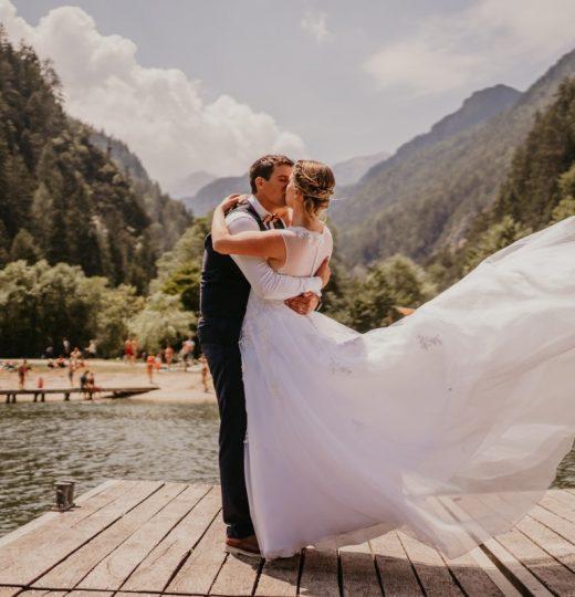 Poroka Tjaša in Boštjan, jezero Jasna