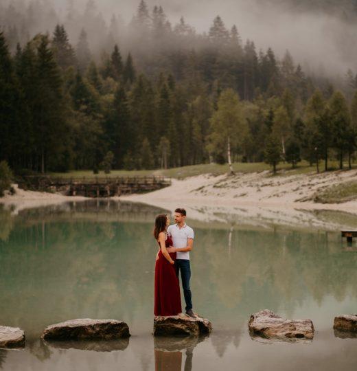 Nosečniško fotografiranje, jezero Jasna